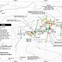 Atlas East Mineralized Zones
